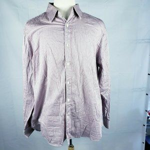 Michael Kors Button Up Long Sleeve Pin Stripes